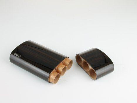 シグロ(Siglo) 木製ケース エボニー コロナ3本用