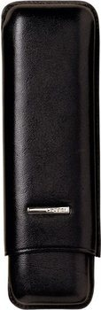 Lecerf Cigar Case Leather black for 2 Corona