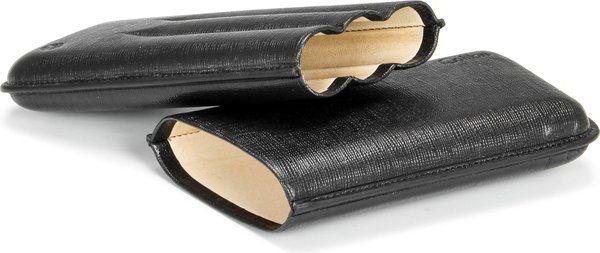 コリブリ(Colibri) コロナレザーシガーケース ブラック/ブラック
