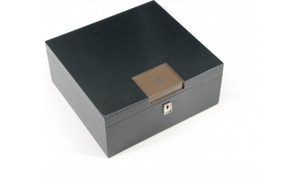 HFバルセロナ Bスマートデスクトップヒュミドール ブラウンカーボン