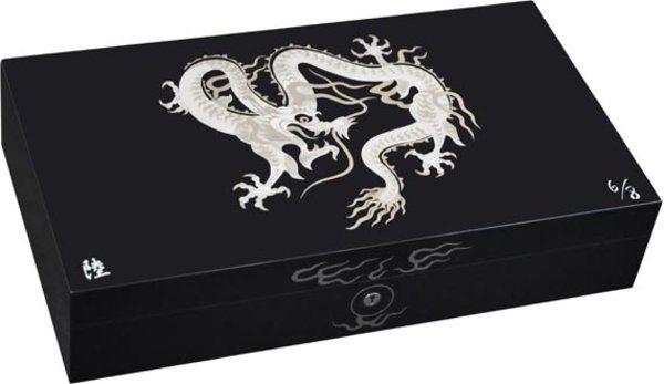 エリーブルー(Elie Bleu) Mother-of-Pearl Dragon 限定モデル ヒュミドール ブラック
