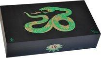 エリーブルー(Elie Bleu) Sycamore Marquetry Snake 限定モデル ヒュミドール ブラック (シリアルナンバー 1~888)