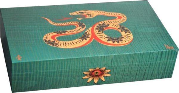 エリーブルー(Elie Bleu) Sycamore Marquetry Snake 限定モデル ヒュミドール グリーン (シリアルナンバー 1~88)