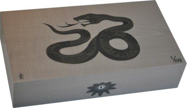エリーブルー(Elie Bleu) Sycamore Marquetry Snake 限定モデル ヒュミドール グレー