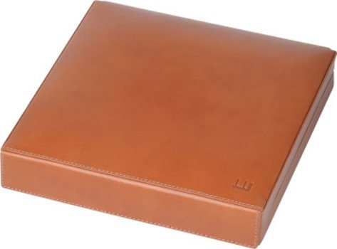 Dunhill terracotta travel humidior leather