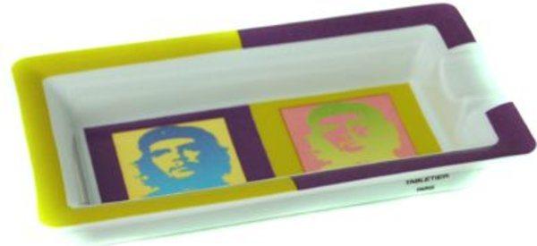 エリーブルー(Elie Bleu) 灰皿 チェ・ゲバラ ポップアート 磁器 グリーン