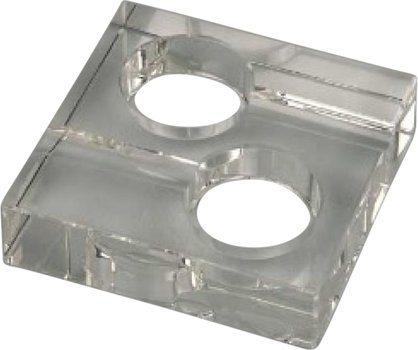 スクエア 灰皿 ガラス製 2本用